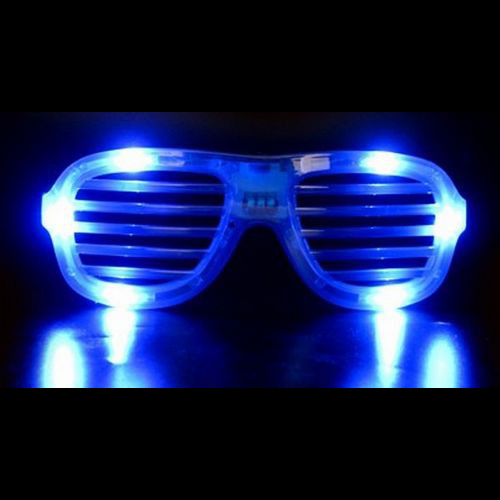 Gafas LED persiana azul