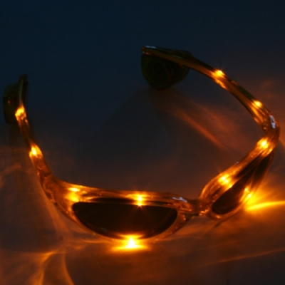 Gafas luminosas LED amarillo