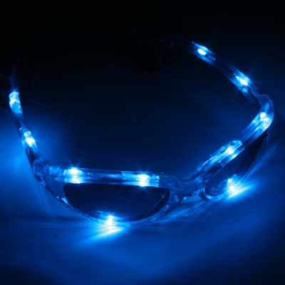 Gafas luminosas LED azul