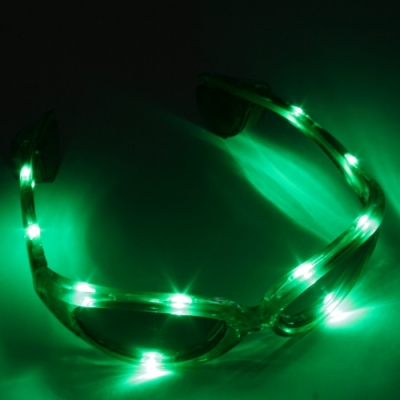Gafas luminosas LED verde