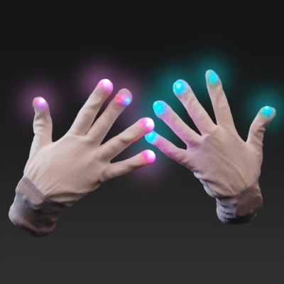Guantes LED blanco